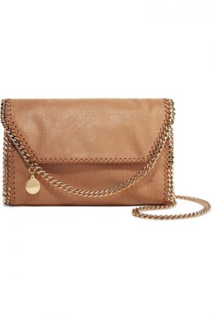 Tan Faux Leather Shoulder Bag