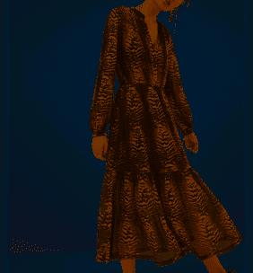 Tiger Print Maxi Dress