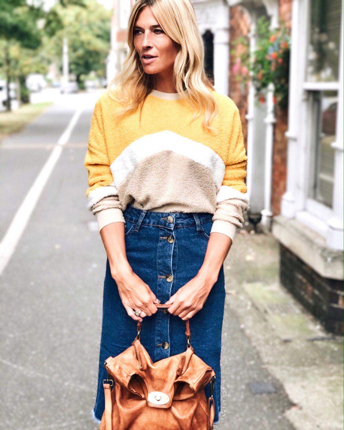 10 best denim midi skirts